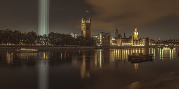 Westminster Abby Spectra lights wallpaper mural