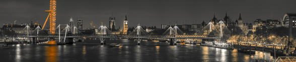 London Panoramic Colour Splash mural wallpaper