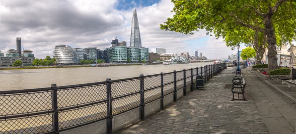 Thames Promenade with The Shard wall mural