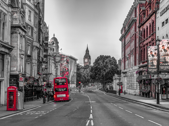 Streets of London Colour Splash wallpaper mural