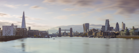 London Skyline Panoramic and The Tower Bridge wall mural