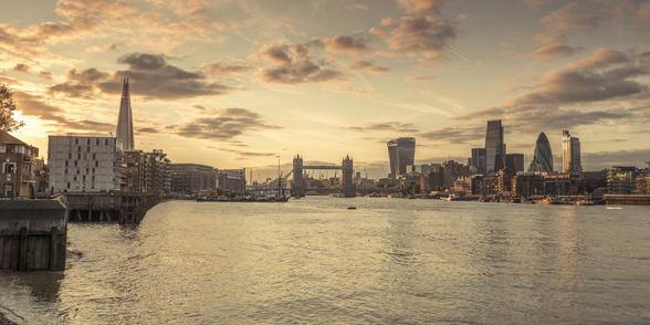 River Thames and London Skyline mural wallpaper