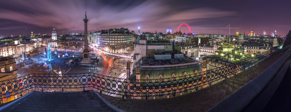 Panoramic View of London City in Evening mural wallpaper