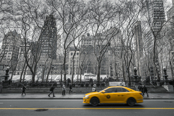 New York Taxi Colour Splash mural wallpaper