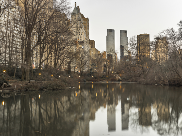 Central park with Manhattan Skyline wall mural