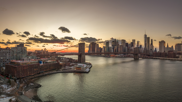 Beautiful New York Sunset wallpaper mural