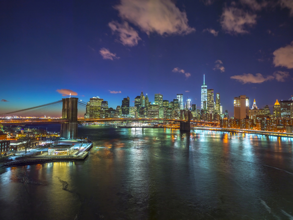 Colourful New York Night wallpaper mural