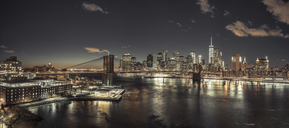 Evening Lights in New York mural wallpaper