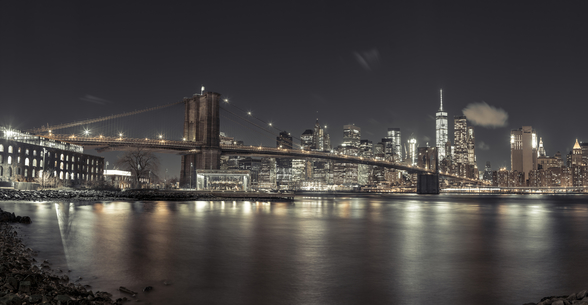 Clear Skies New York Night wall mural