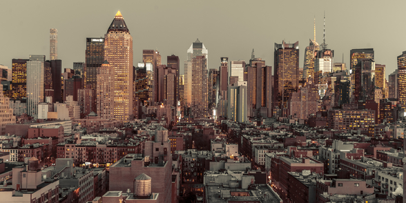 Lower Manhattan Cityscape wall mural