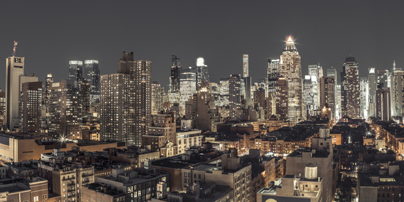 Bright Night in New York mural wallpaper