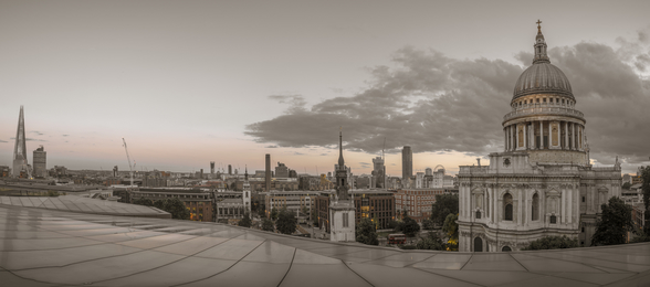 St Pauls Cathedral Dusk Panoramic mural wallpaper