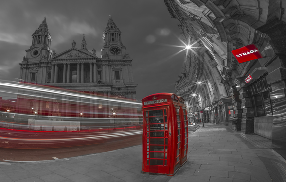 London Telephone Booth Colour Splash mural wallpaper
