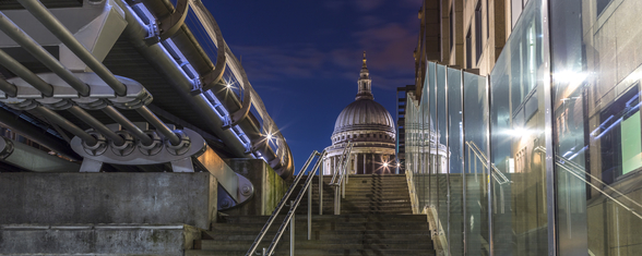 St Pauls Cathederal from the Stairs mural wallpaper