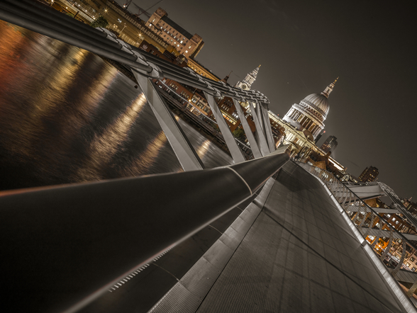 Dramatic View of St Pauls Cathedral mural wallpaper