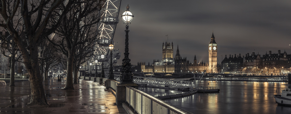 Westminster across the Thames River wallpaper mural