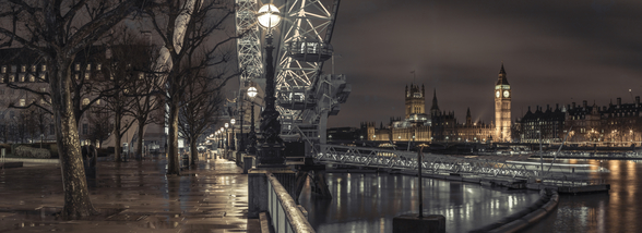 Thames Promenade with Westminster mural wallpaper