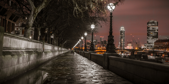 Thames Promenade at Night wall mural