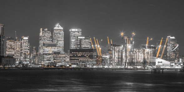 London Cityscape across the Thames mural wallpaper