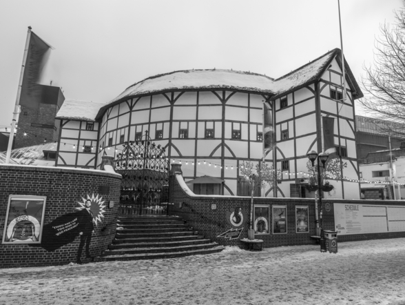 Globe Theatre During Wintertime wall mural