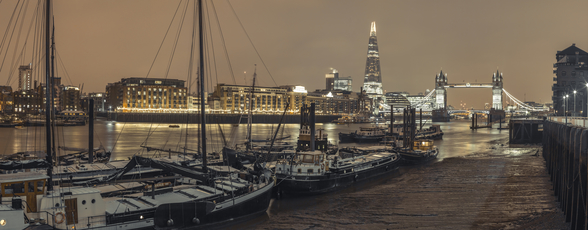London Skyline during Wintertime wallpaper mural