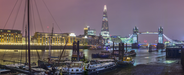 London Skyline Winter Panoramic mural wallpaper