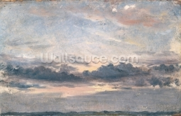 A Cloud Study, Sunset, c.1821 (oil on paper on millboard) wallpaper mural