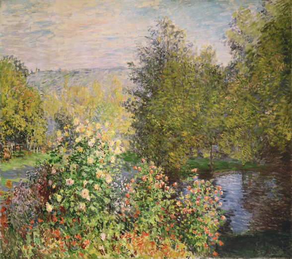A Corner of the Garden at Montgeron, 1876-7 (oil on canvas) wall mural