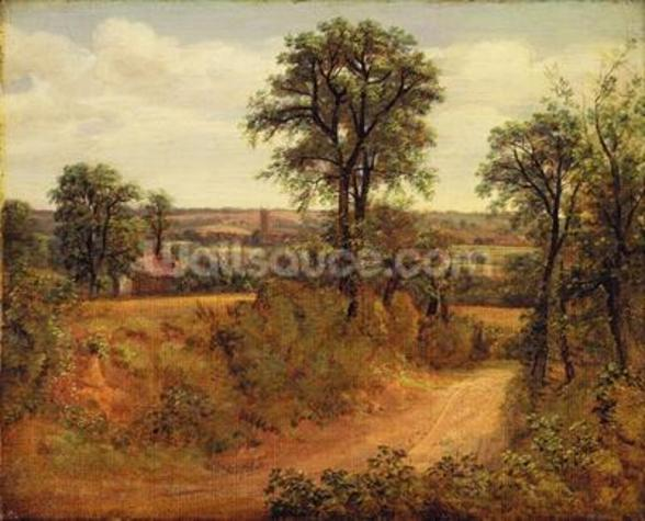 A Lane near Dedham, c.1802 (oil on canvas) wall mural