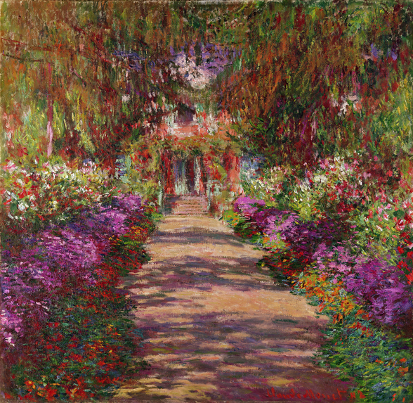 A Pathway in Monets Garden, Giverny, 1902 wall mural