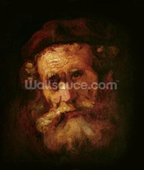 A Rabbi (oil on canvas) wall mural