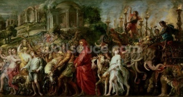 A Roman Triumph, c.1630 (oil on canvas laid down on wood) wall mural