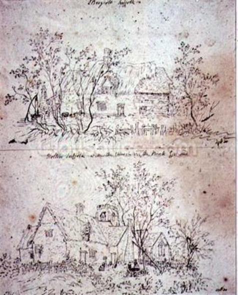 A ruined cottage at Capel, Suffolk mural wallpaper