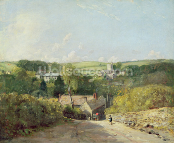 A View of Osmington Village with the Church and Vicarage, 1816 (oil on canvas) mural wallpaper