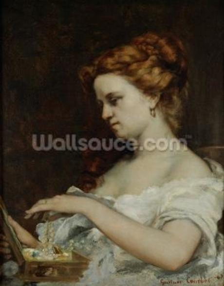 A Woman with Jewellery, 1867 (oil on canvas) wall mural