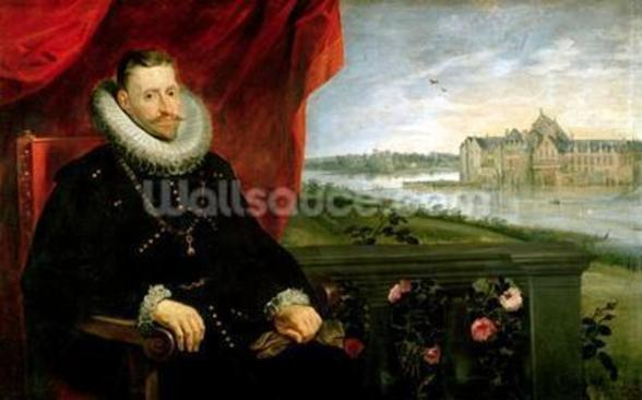 Albert of Habsbourg (1559-1621) Archduke of Austria (oil on canvas) (pair of 197173) wall mural
