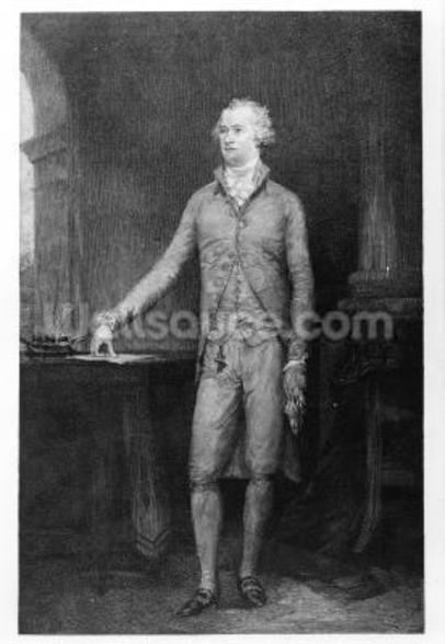 Alexander Hamilton, after the painting of 1792 (engraving) wall mural