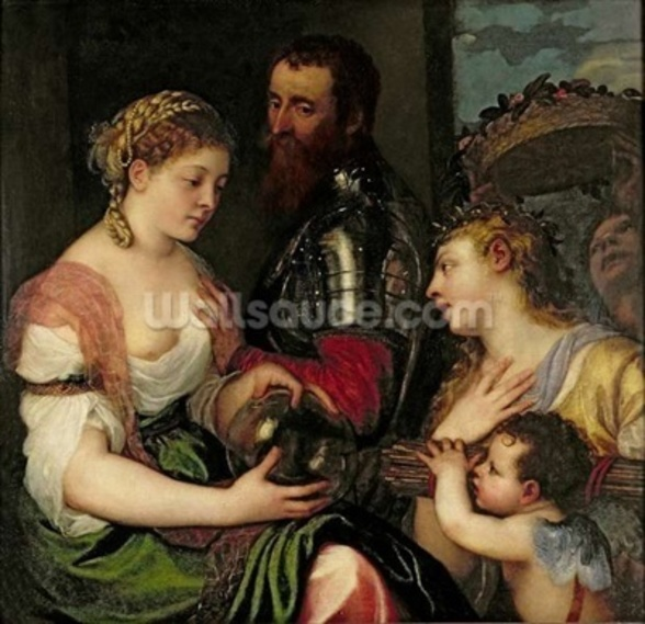 Allegory of Married Life (oil on canvas) wall mural