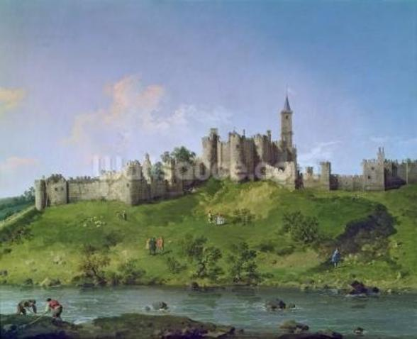 Alnwick Castle mural wallpaper