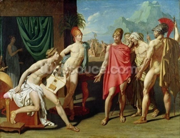 Ambassadors Sent by Agamemnon to Urge Achilles to Fight, 1801 (oil on canvas) mural wallpaper