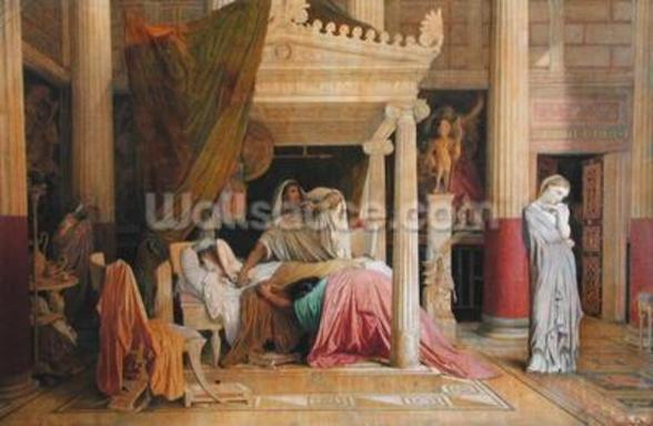 Antiochus and Stratonice, 1840 (oil on canvas) wallpaper mural