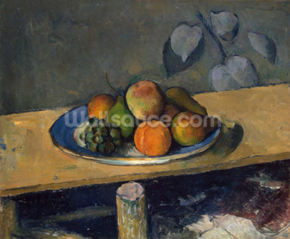 Apples, Pears and Grapes, c.1879 (oil on canvas) wall mural