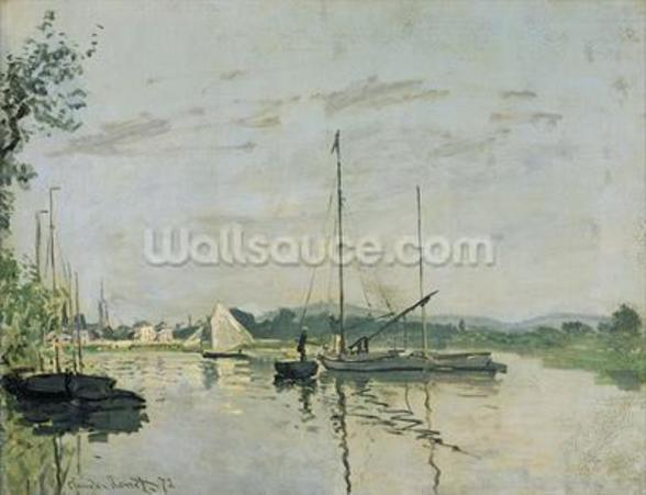 Argenteuil, 1872 (oil on canvas) mural wallpaper