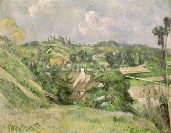 Auvers-sur-Oise, seen from the Val Harme, 1879-82 (oil on canvas) mural wallpaper