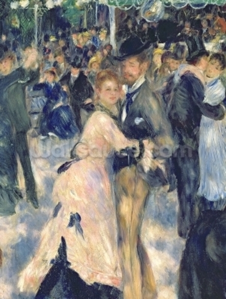 Ball at the Moulin de la Galette, 1876 (oil on canvas) (detail of 36481) wallpaper mural