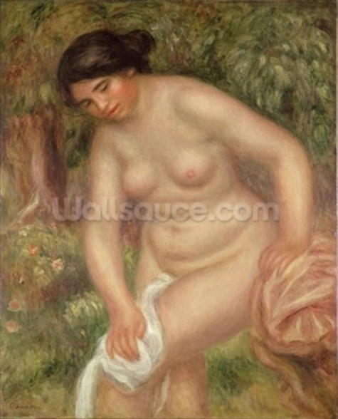 Bather drying herself, 1895 (oil on canvas) wall mural