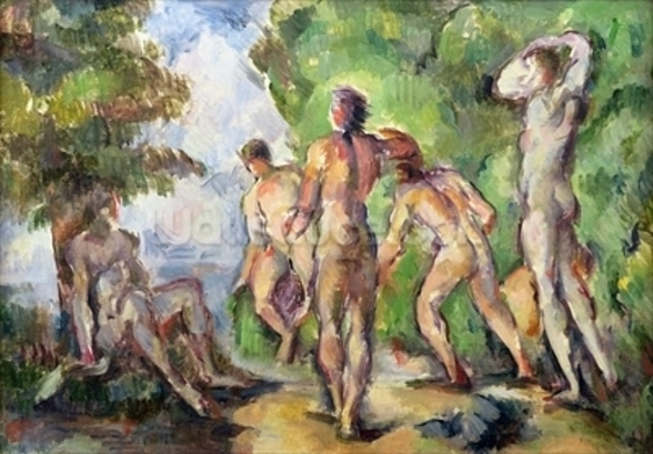 Bathers, c.1892-94 (oil on canvas) mural wallpaper