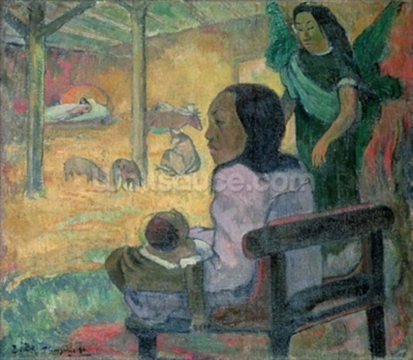 Be Be (The Nativity), 1896 (oil on canvas) wall mural