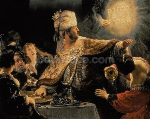 Belshazzars Feast c.1636-38 (oil on canvas) wall mural