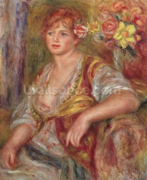 Blonde Woman with a Rose, c.1915 (oil on canvas) wall mural